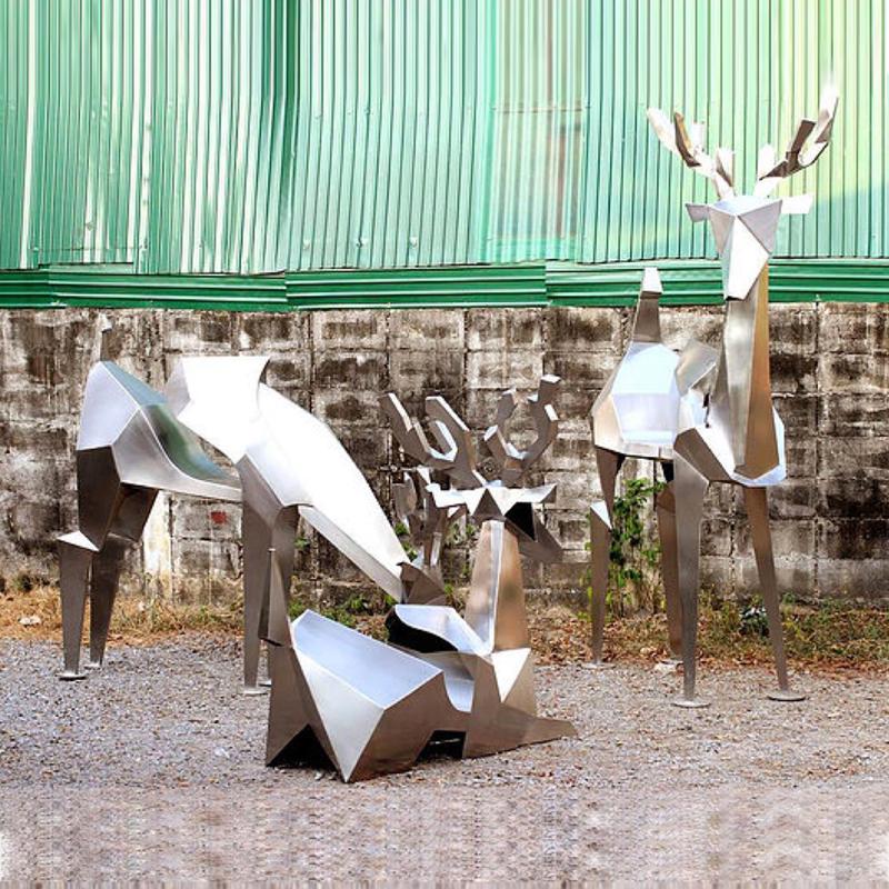 抽象创意鹿群组丨第十四届北京文博会参展作品